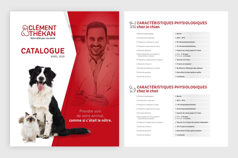 Catalogue des produits de soin animaliers Clément Thékan 2020